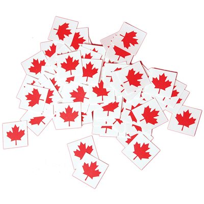 TEMPORARY TATTOOS MAPLE LEAF PKG 100