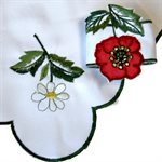 SERVIETTES DE TABLE COQUELICOT, ASST DE 4