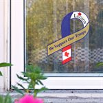 "WINDOW  STICKER 4½"" ""WE SUPPORT OUR TROOPS"""