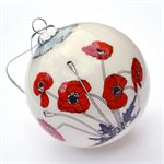 GLASS POPPY ORNAMENT