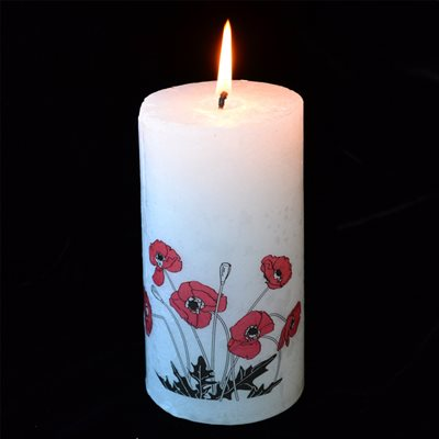 POPPY PILLAR CANDLE