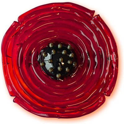 GLASS POPPY BROOCH