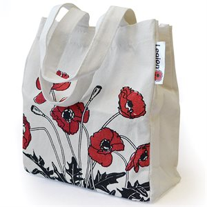 POPPY CANVAS SHOPPING TOTE SMALL