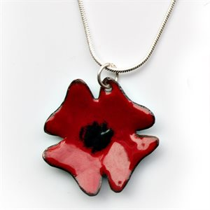 POPPY NECKLACE METAL