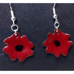 POPPY DROP EARRINGS  METAL