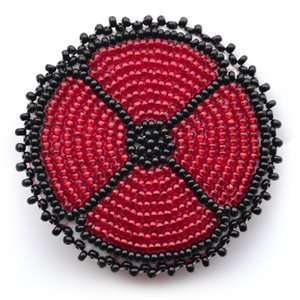 BEADED POPPY BROOCH