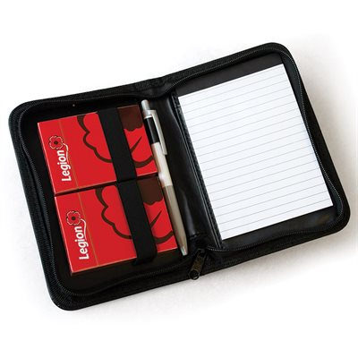 PLAYING CARD CASE WITH 2 DECKS, PAD & PEN