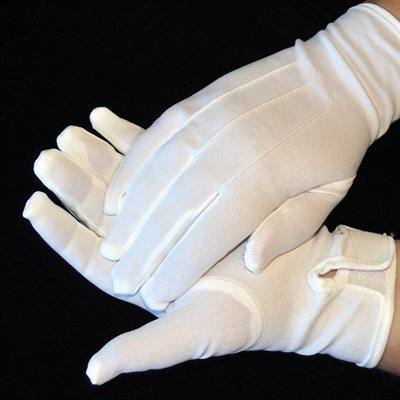 WHITE NYLON GLOVES