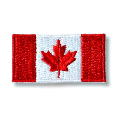 "PATCH CANADA FLAG 1"" X 2"""