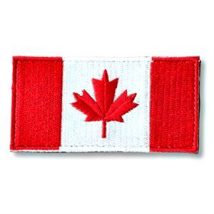 "PATCH CANADA FLAG 1.5"" X 3"" HOOK & LOOP"