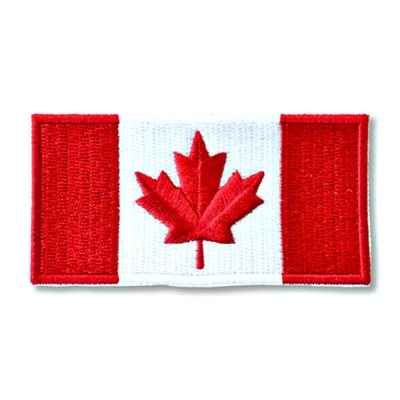 "PATCH CANADA FLAG 2"" X 4"""