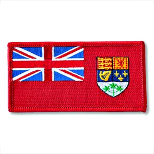 "ÉCUSSON RED ENSIGN 2"" X 4"""