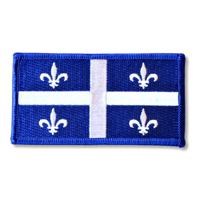 "PATCH QUEBEC FLAG 2"" X 4"""