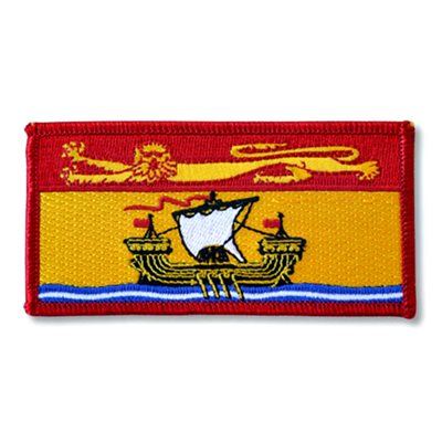 "PATCH NEW BRUNSWICK FLAG 2"" X 4"""