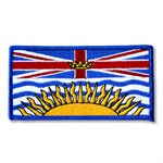 "PATCH BRITISH COLUMBIA FLAG 2"" X 4"""