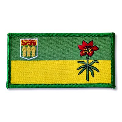"PATCH SASKATCHEWAN FLAG 2"" X 4"""