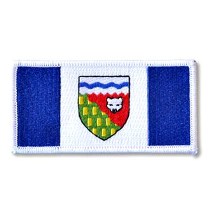 "PATCH NORTHWEST TERRITORIES FLAG 2"" X 4"""
