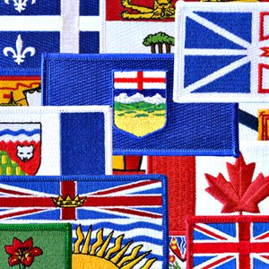"PATCH  PROVINCIAL / CANADA FLAG SET OF 14  2"" X 4"""