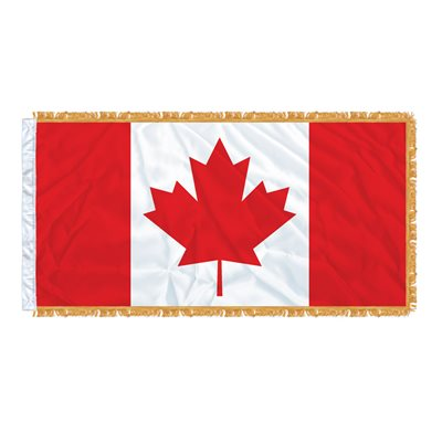 FLAG CANADA 6' X 3' SLEEVED & FRINGED