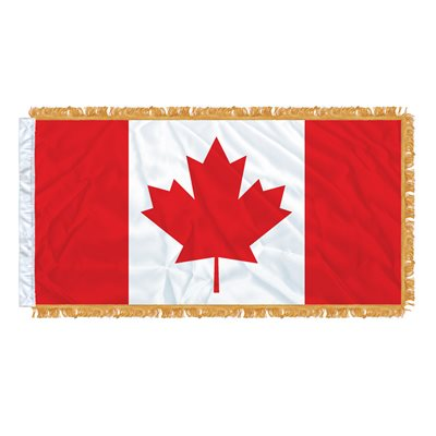 "FLAG CANADA 54"" X 27"" SLEEVED & FRINGED"