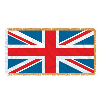 FLAG UNION JACK 6' X 3' SLEEVED & FRINGED