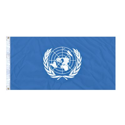 DRAPEAU NATIONS UNIES 6'X3' OEILLETS (2)