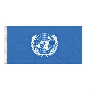 FLAG UNITED NATIONS 6'X3' GROMMET (2)