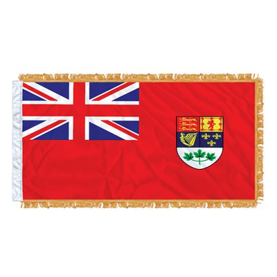 "FLAG RED ENSIGN 54"" X 27""  SLEEVED & FRINGED"
