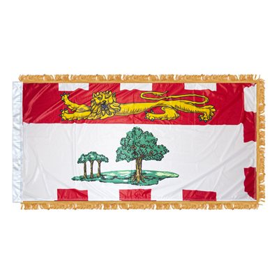 "FLAG PEI  54"" X 27"" SLEEVED & FRINGED"