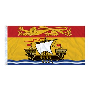 FLAG NEW BRUNSWICK 6' X 3' GROMMET (2)