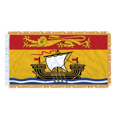 "FLAG NEW BRUNSWICK  54"" X 27"" SLEEVED & FRINGED"