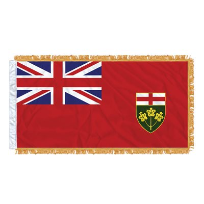 "FLAG ONTARIO 54"" X 27"" SLEEVED & FRINGED"