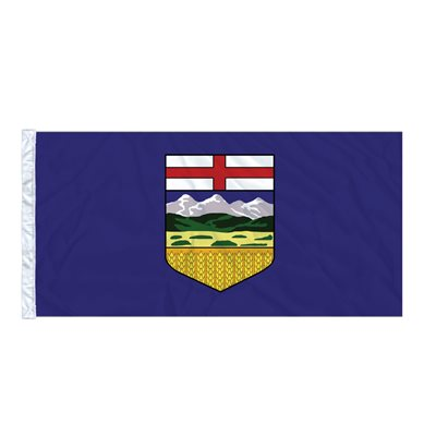 FLAG ALBERTA  6' X 3' SLEEVED