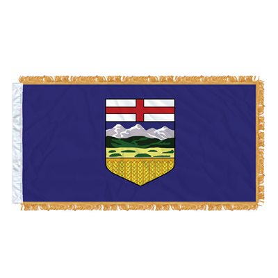 "FLAG ALBERTA  54"" X 27"" SLEEVED & FRINGED"