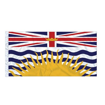 FLAG BRITISH COLUMBIA 6' X 3' SLEEVED