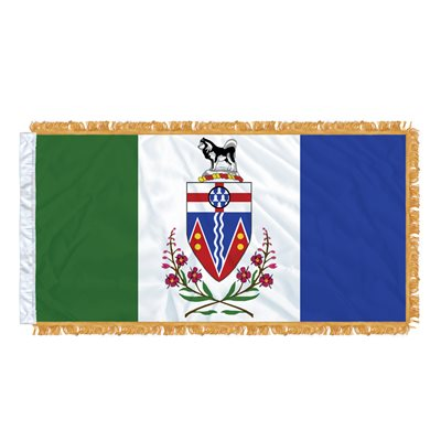 "FLAG YUKON  54"" X 27"" SLEEVED & FRINGED"