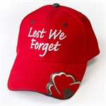 CASQUETTE LEST WE FORGET ROUGE