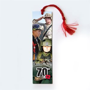 BOOKMARK 70 ANS FEMMES MILITAIRES DU CANADA (FRENCH)
