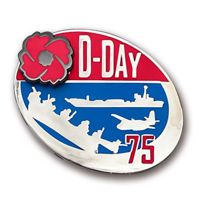 LAPEL PIN D-DAY 75TH  ANNIVERSARY