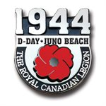 LAPEL PIN D- DAY JUNO BEACH