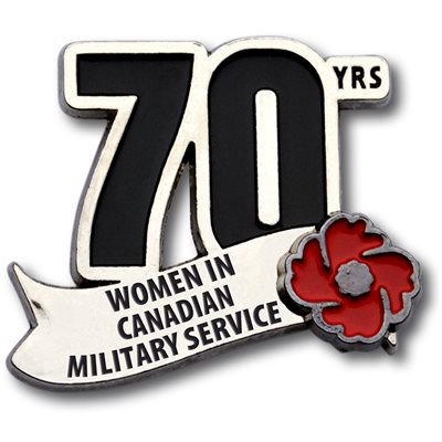 LAPEL PIN 70 YRS CANADA'S MILITARY WOMEN