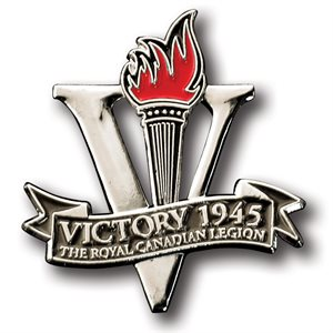 LAPEL PIN VICTORY 1945