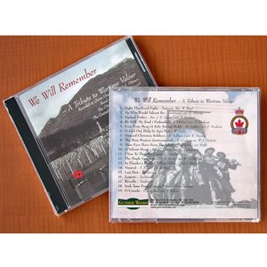 "CD ""WE WILL REMEMBER - TRIBUTE TO WARTIME VALOUR"""